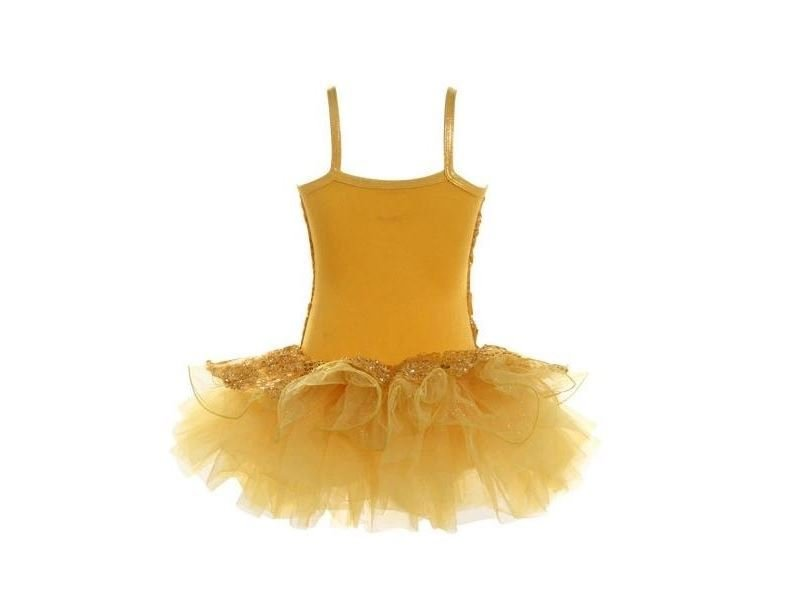 TWO-IN-ONE FLOWER CAMISOLE SEQUIN TUTU DRESS
